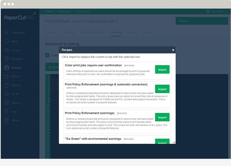 مدیریت کامل پرینترهای سازمان PaperCut ساده ترین راه جهت کنترل و مدیریت پرینترهای سازمان و کاهش هزینه های چاپ می باشد