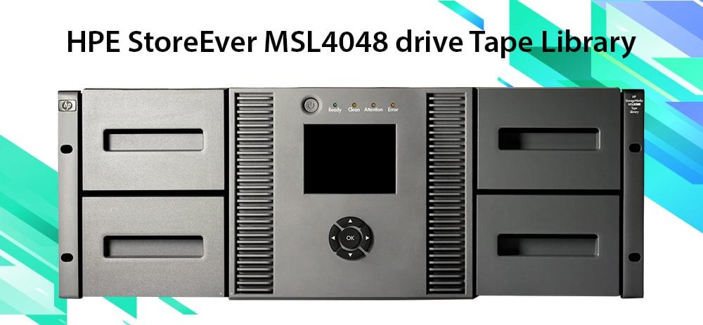 ذخیره ساز HPE StoreEver MSL4048 Tape Library
